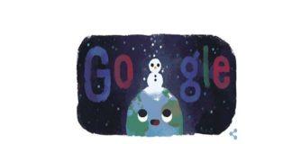 Google le dedica un divertido doodle al solsticio de invierno