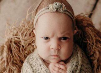 Conozca a Luna, la bebé enojada (+Fotos)