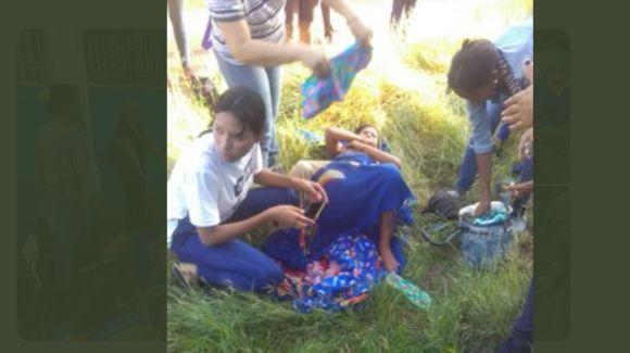 Se le adelantó el parto y parió cerca de la Morgue en Guayana