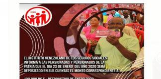 Abuelos cobrarán este 23 de enero 350 mil bolívares