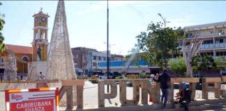 Alcalde Goitía supervisa obra en plaza del obrero de Carirubana