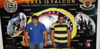 GAES detiene por extorsión en divisas a dos funcionarios de Polifalcón