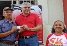 Durante la primera fase de la jornada de carnetización convocada por la Dirección Nacional del Partido Socialista