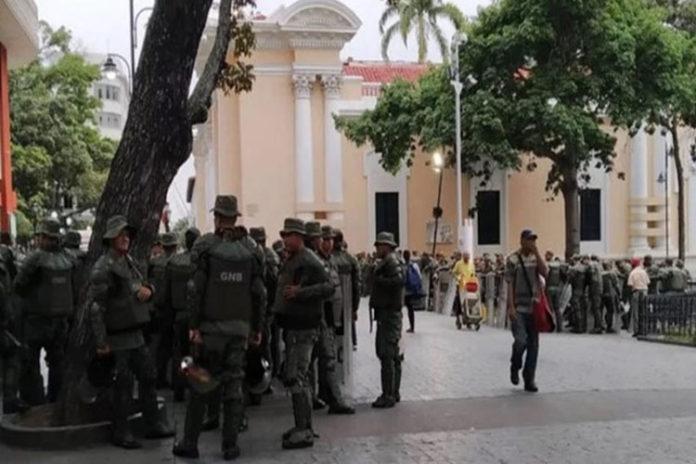 Denuncian militarización del Palacio Federal Legislativo