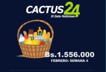 En Bs. 1.556.000 costó la Cesta de Punto Fijo en esta semana