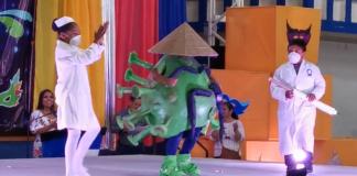 Niño se vuelve viral al disfrazarse de coronavirus (+Video)