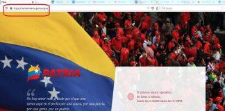 Reportan mantenimiento de la plataforma Patria