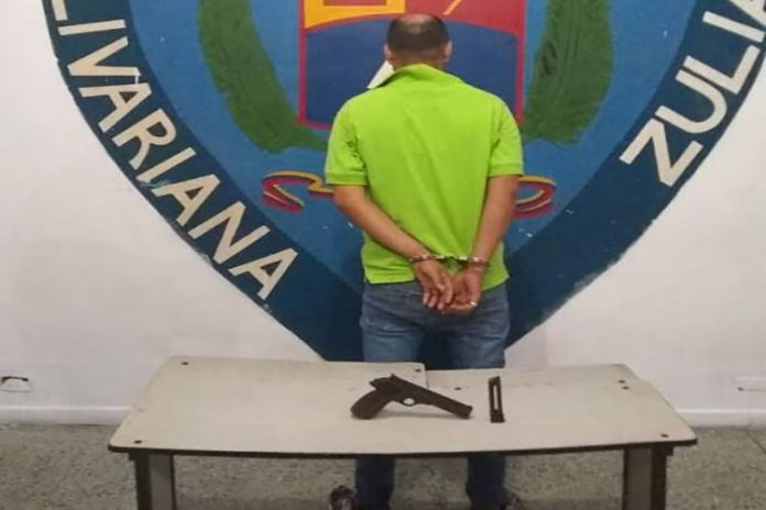Detenido por porte ilegal de arma de fuego en el Zulia