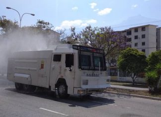 GNB continúa con labores de desinfección en Mérida