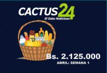 En Bs. 2.125.000 se fija la Cesta Punto Fijo en primera semana de abril