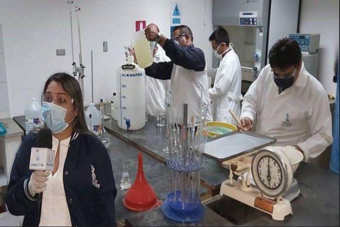 Unefm produce geles antibacteriales