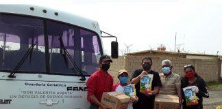 Los Taques: Abuelos de casa don Valentín Acosta reciben aporte alimentario