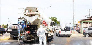 Realizan jornada de limpieza, ornato y desinfección en avenida principal de Antiguo Aeropuerto